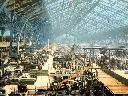 Hall d'exposition de l'exposition universelle de Paris en 1900