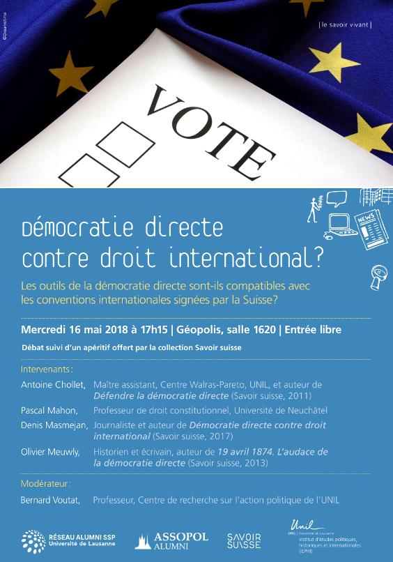 Démocratie directe contre le droit international?