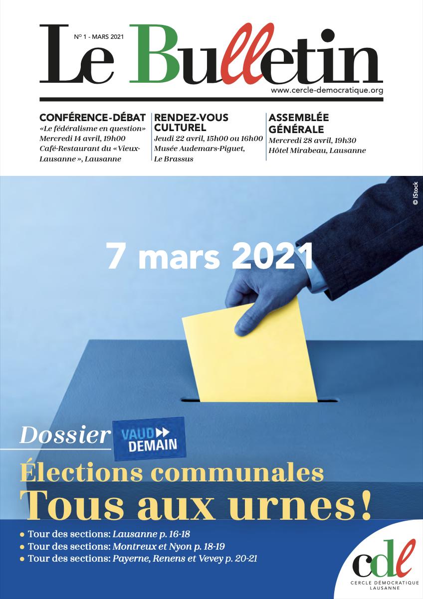 Bulletin du mois de mars 2021